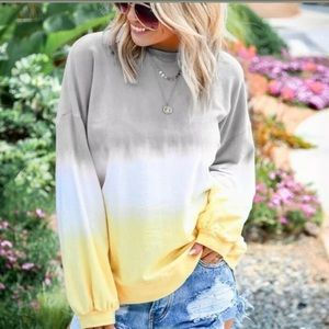 NEW - Tie Dye Long Sleeve Top - Sz XL